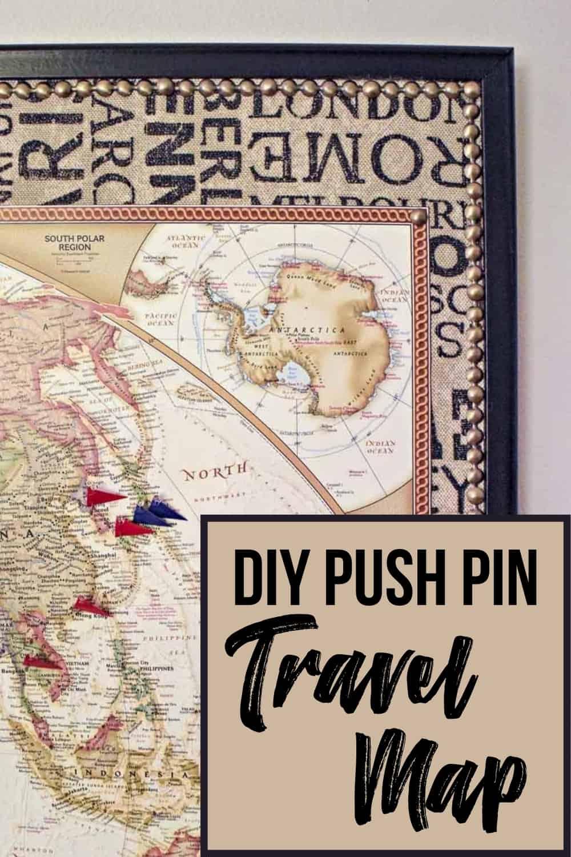 DIY push pin travel map