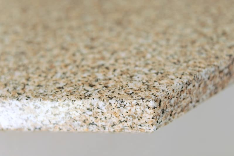 corner of countertop with contact paper covering
