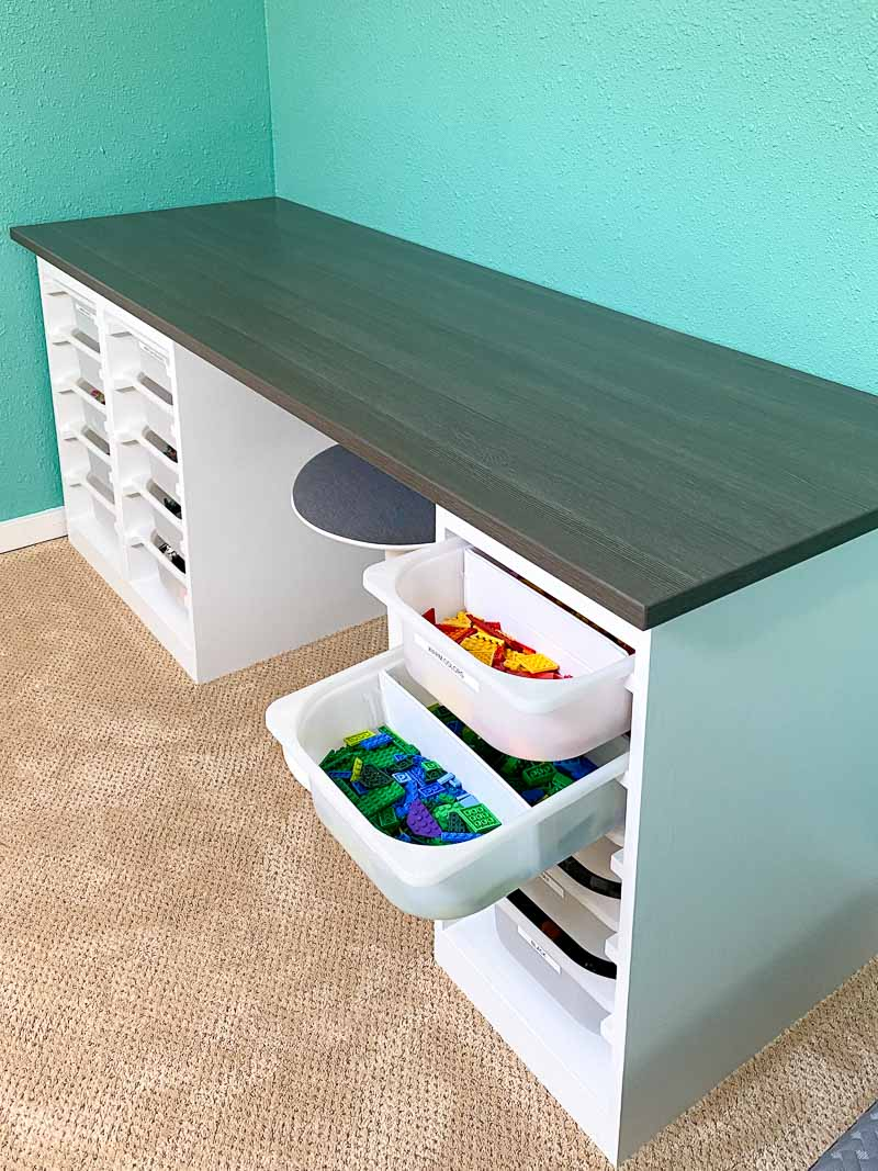 DIY Lego table with lots of storage