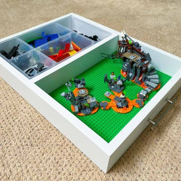 DIY Lego tray with organizer and base plates