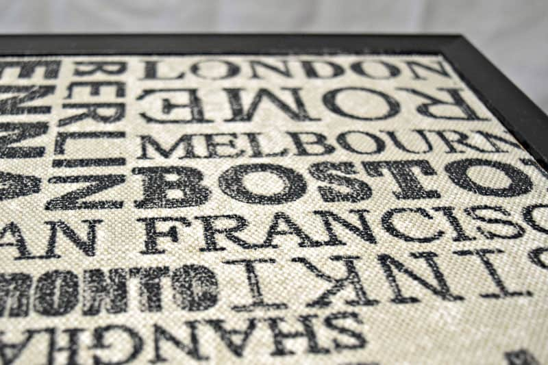 fabric backing on bulletin board