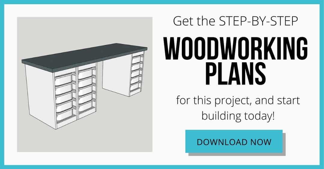 download box for DIY Lego desk woodworking plans