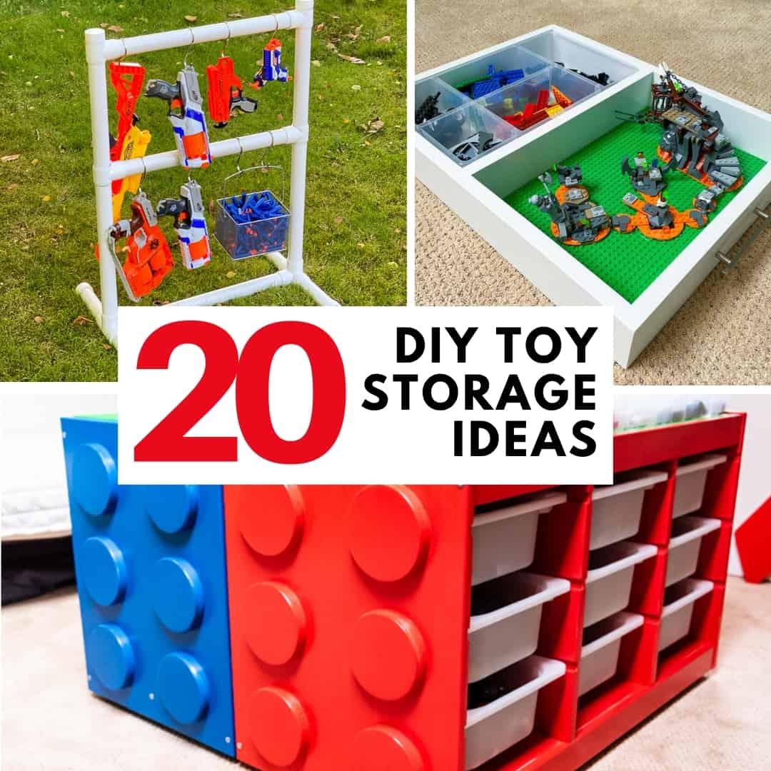 20 DIY Toy Storage Ideas collage