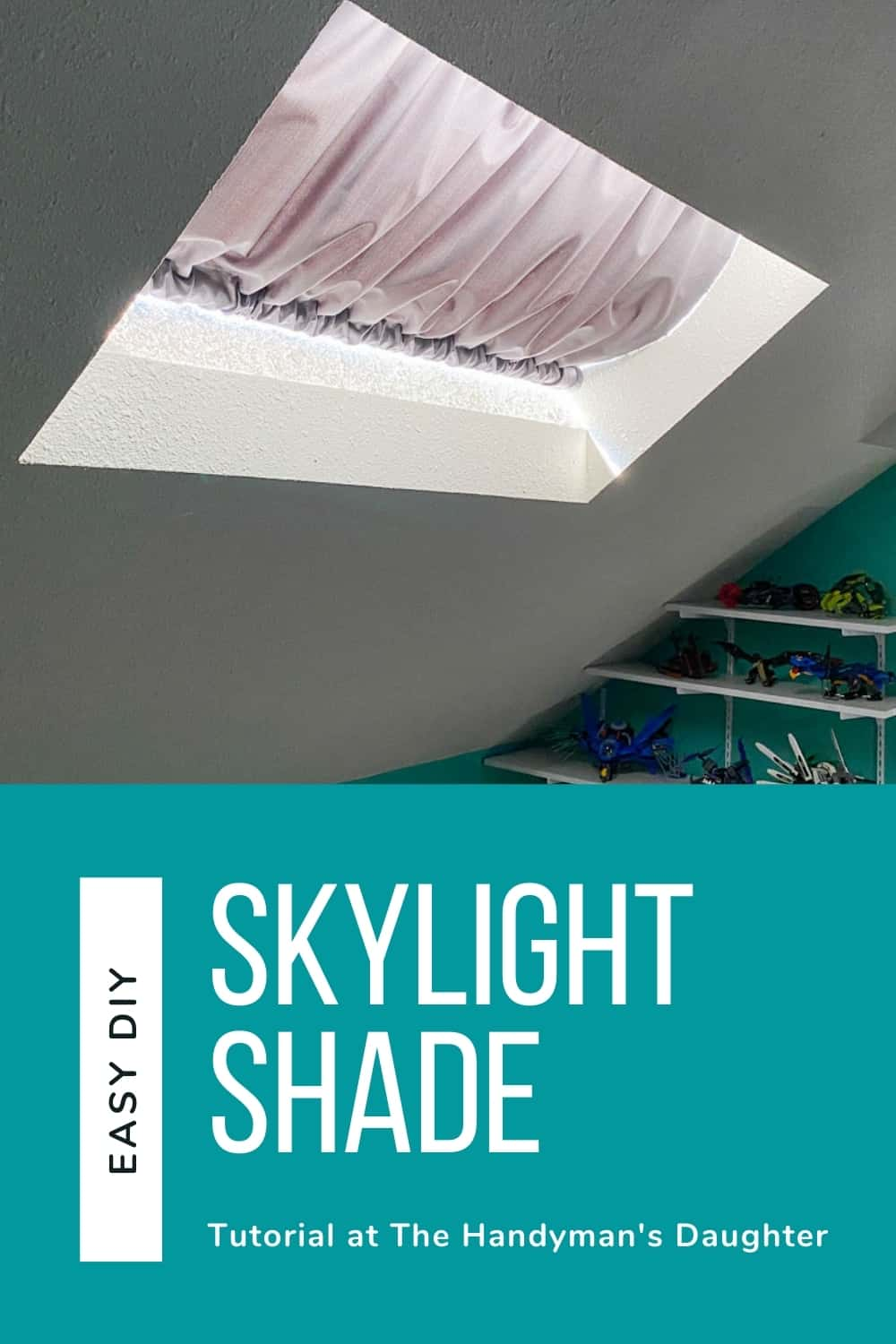 Easy DIY skylight shade
