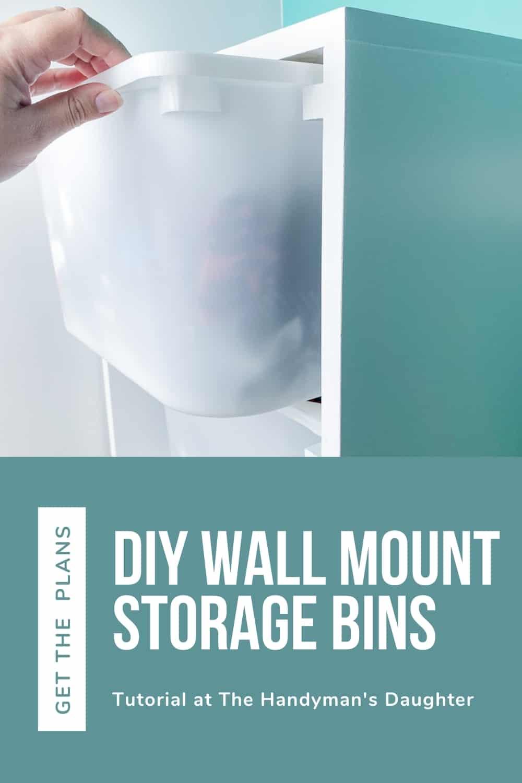DIY wall mount storage bins