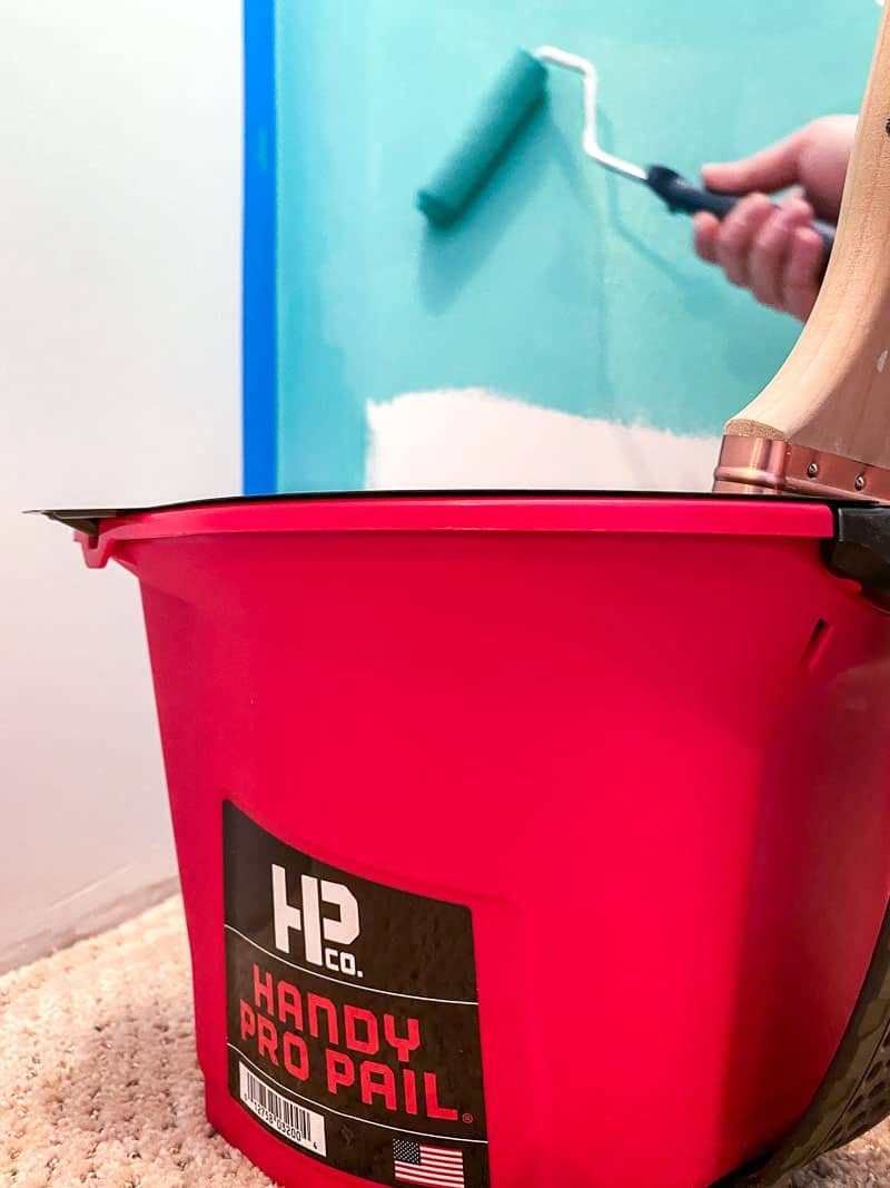 Handy Pro Pail with roller on wall