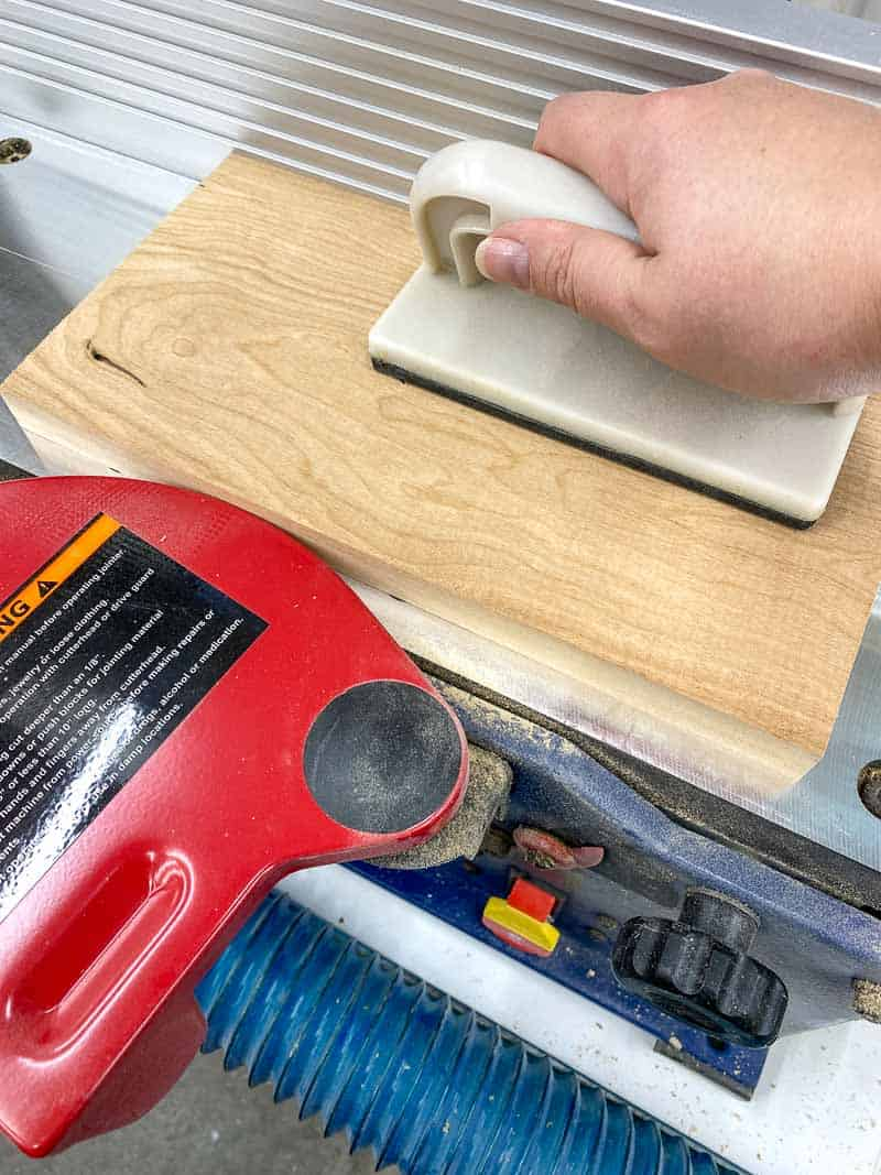 using jointer to flatten face of boards
