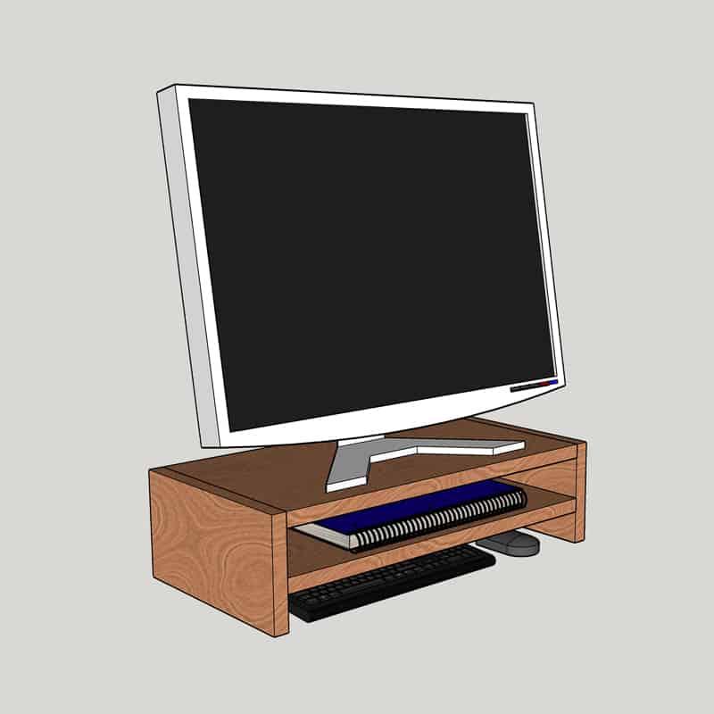 beginner version of DIY laptop or monitor stand