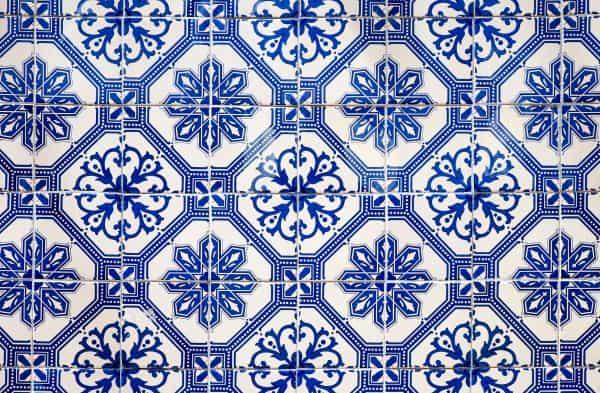 intricate pattern on tile floor