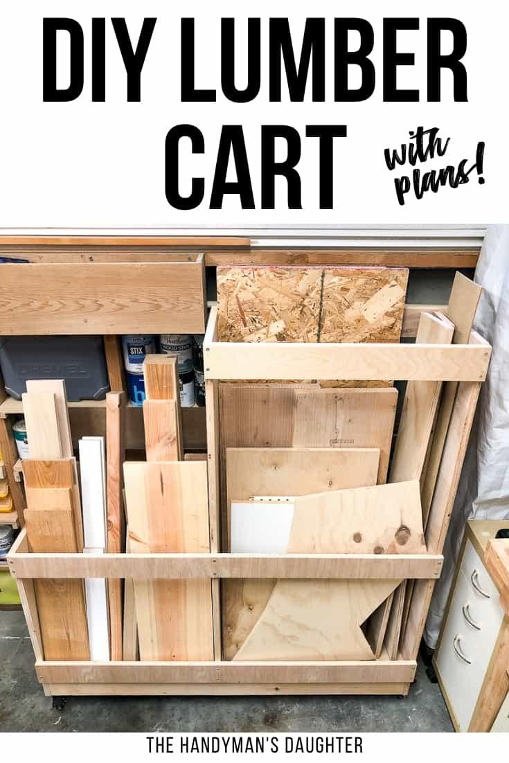 DIY lumber cart with plans