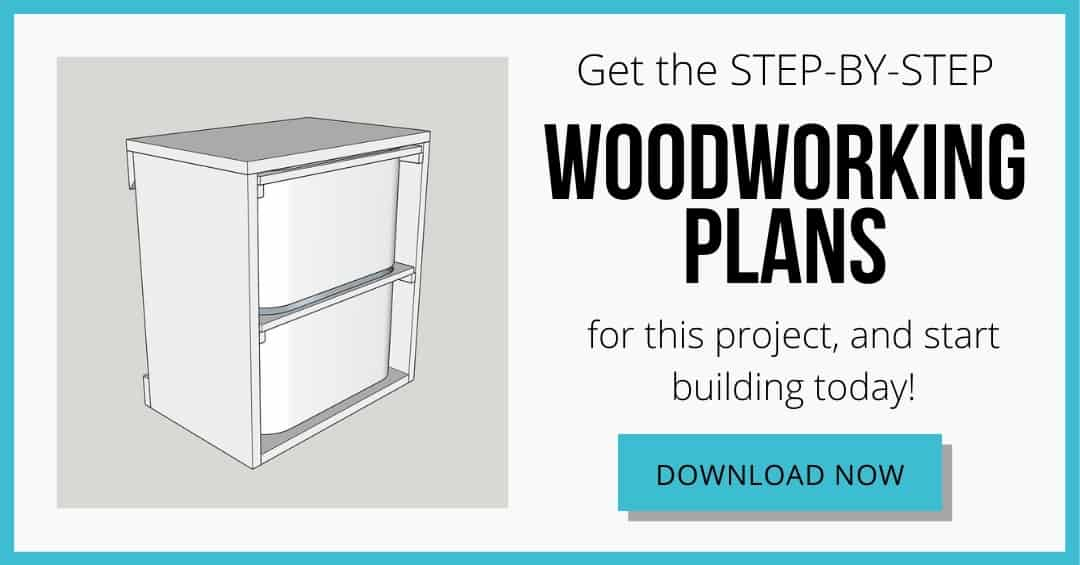 download box for wall mount storage bins woodworking plans