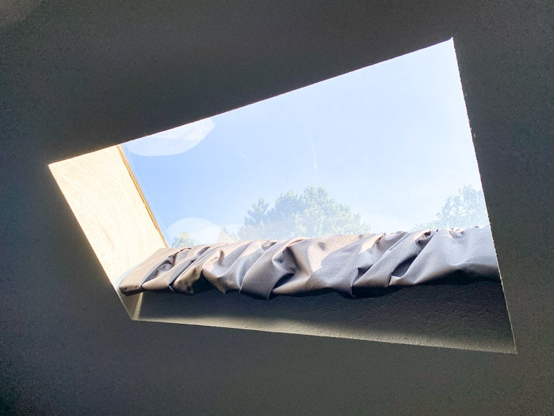 DIY skylight shade open