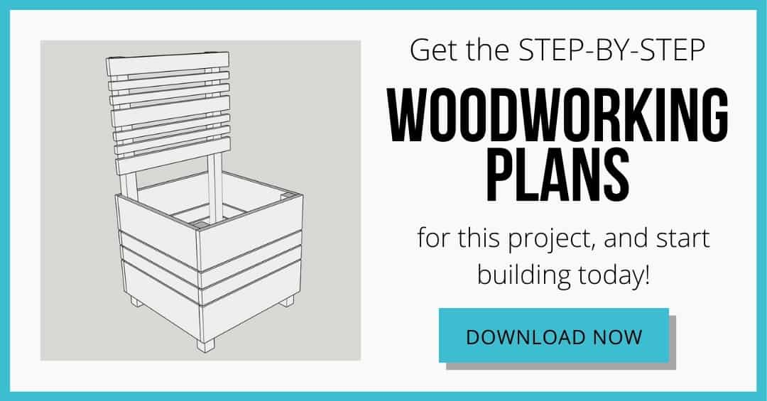 download box for DIY planter box with trellis