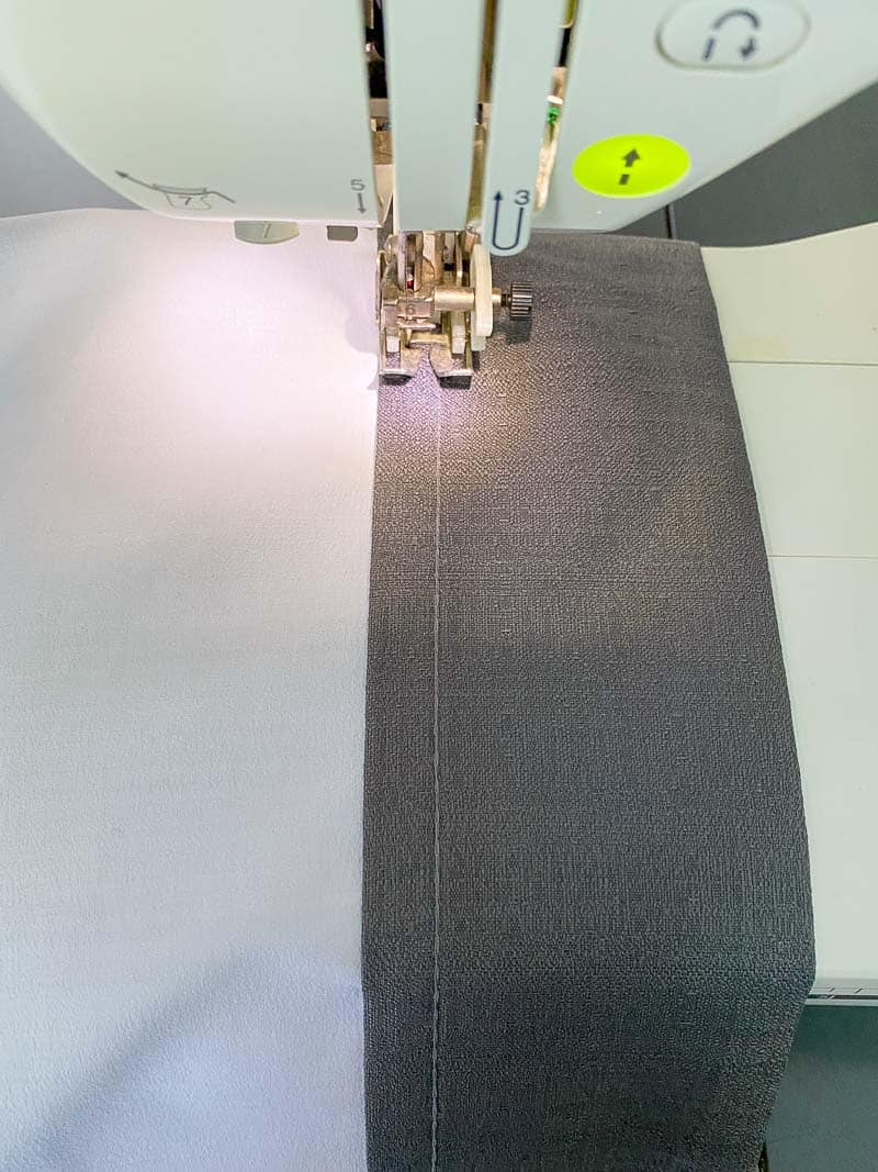 sewing hem for skylight shade