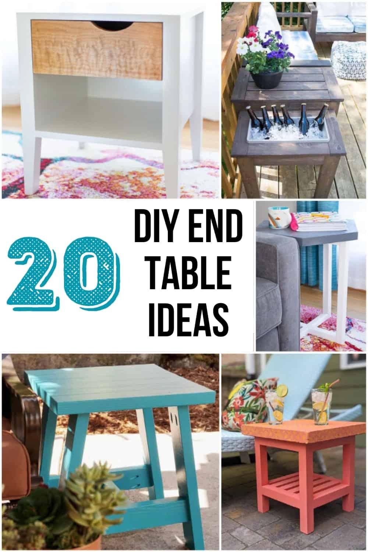 20 DIY end table ideas