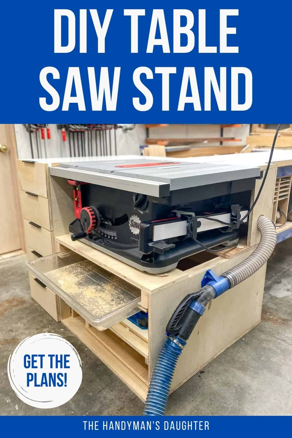 DIY table saw stand with plans