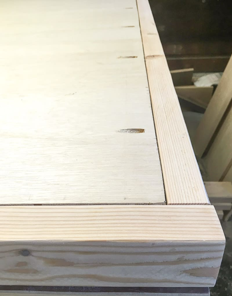 attach plywood back to headboard frame with pocket hole screws