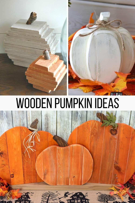 Wooden Pumpkin Ideas