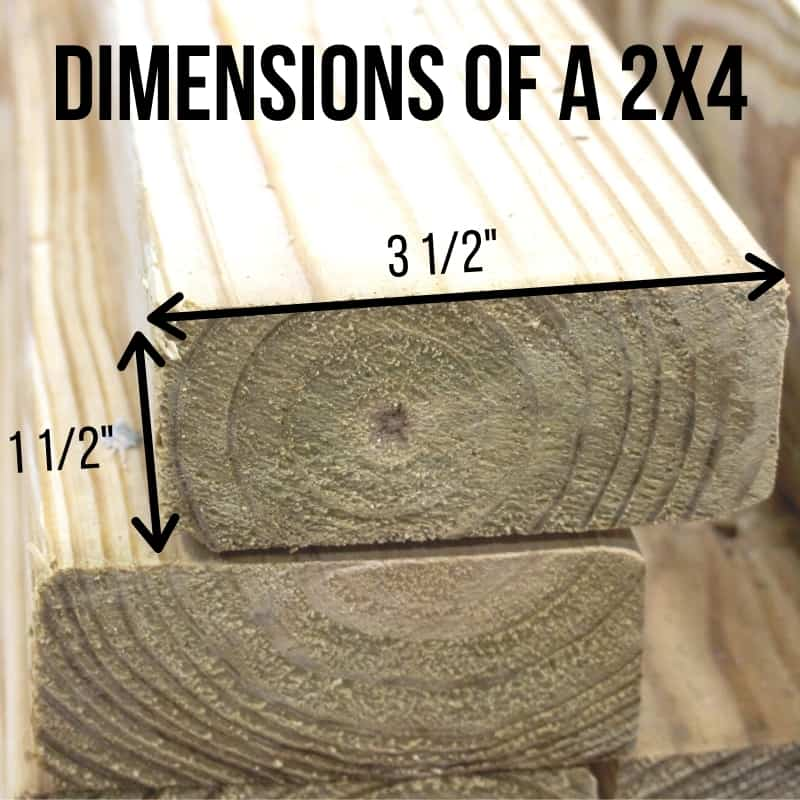 actual dimensions of a 2x4