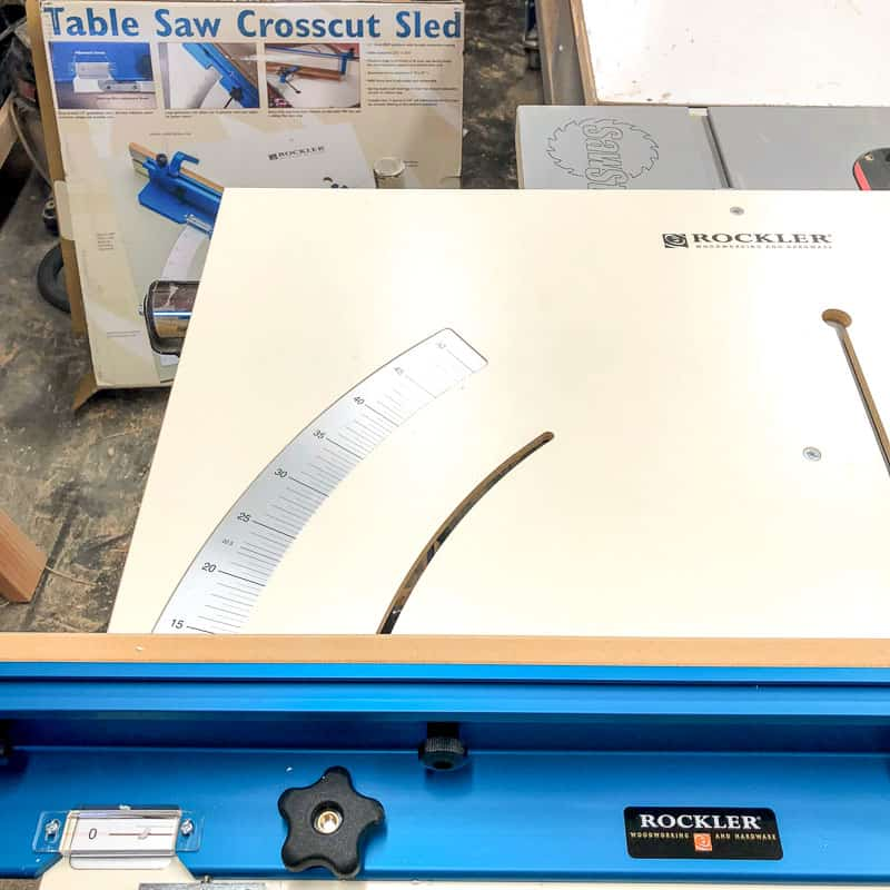 crosscut sled too big for jobsite table saw