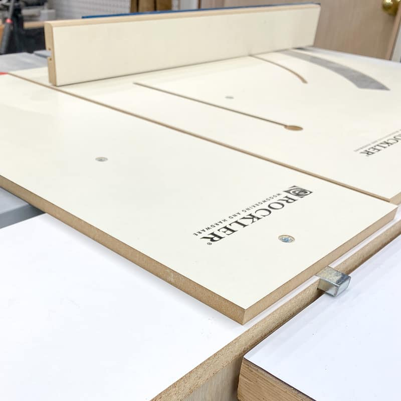 table saw sled runners clearing workbench top