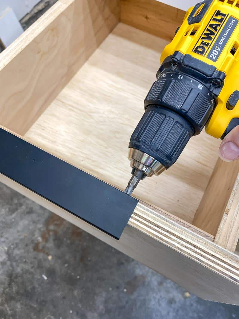 installing low profile drawer pulls on plywood drawer front