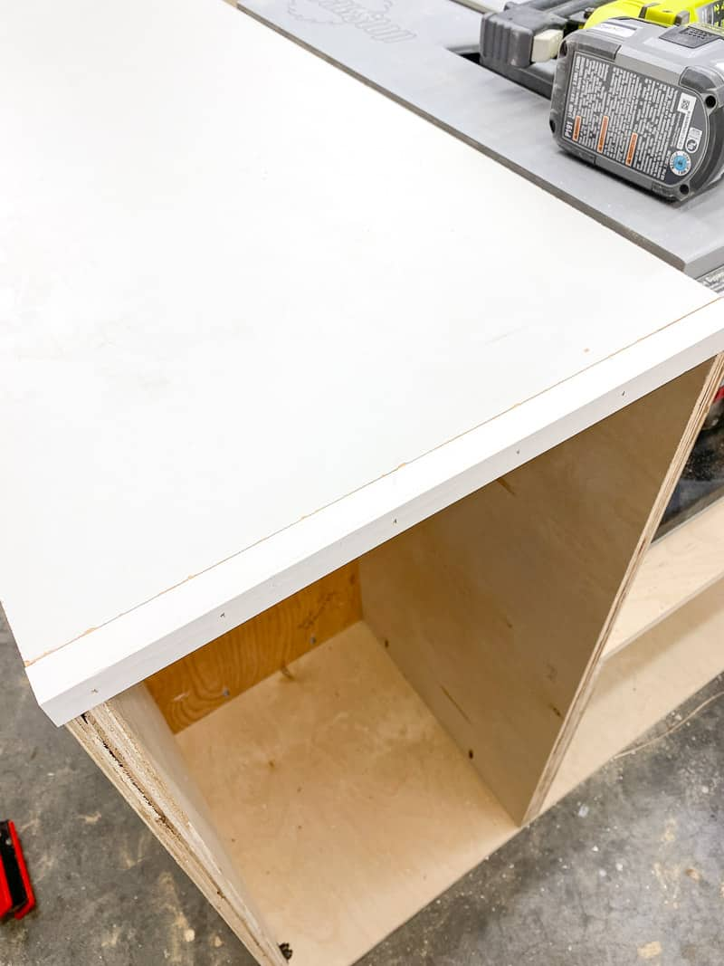 DIY table saw stand left side outfeed