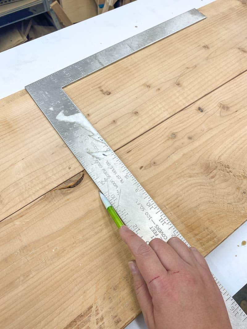 marking boards to the same length
