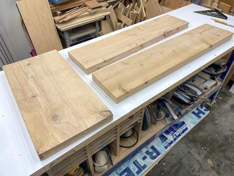 scrap wood for DIY tombstones