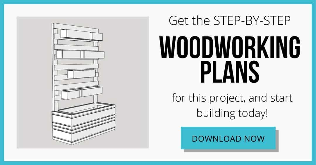 DIY planter wall woodworking plans download box