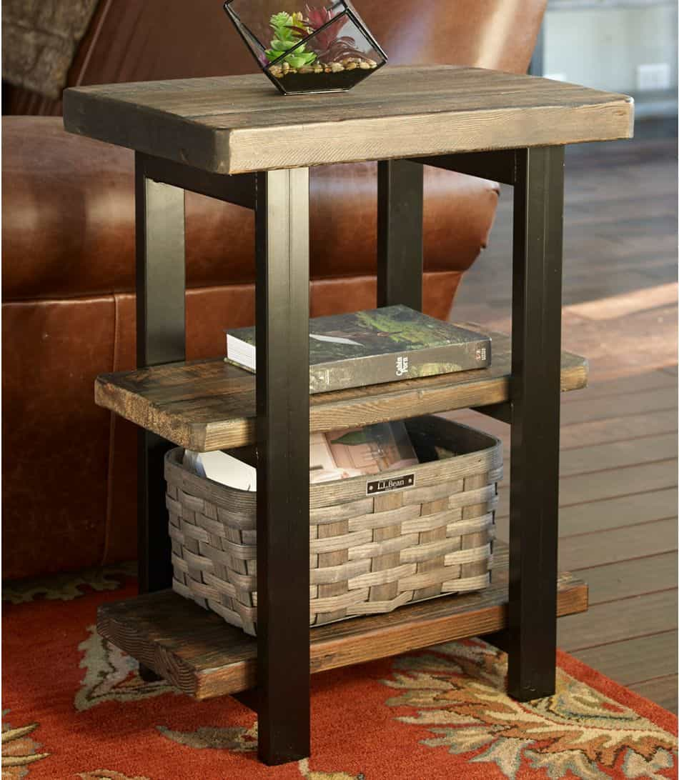 rustic end table from L.L. Bean