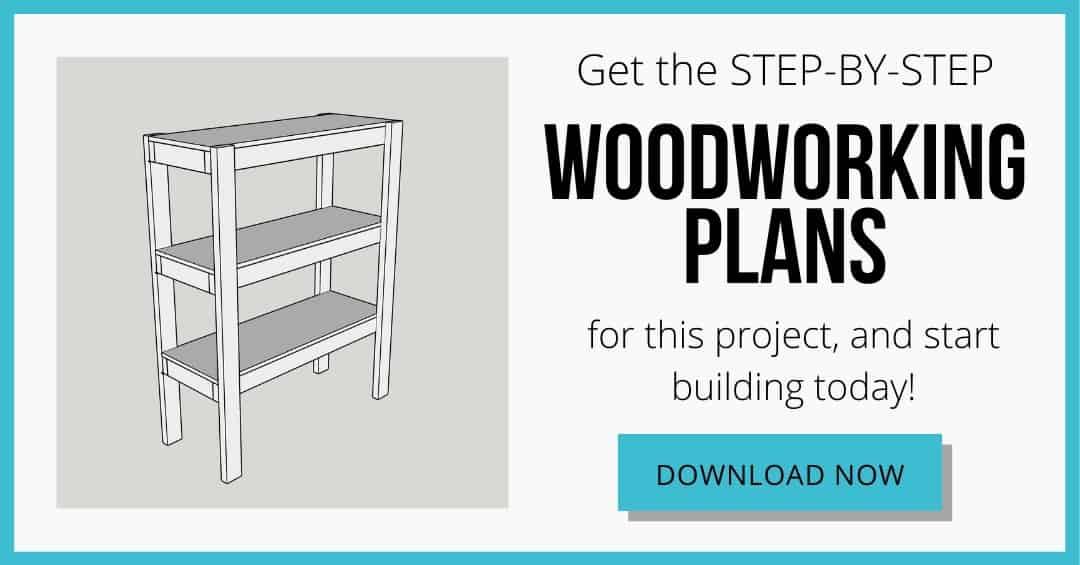 download box for woodworking plans for DIY garage shelves