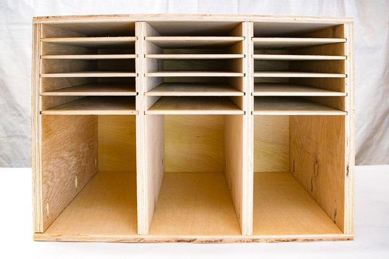 empty sandpaper storage box