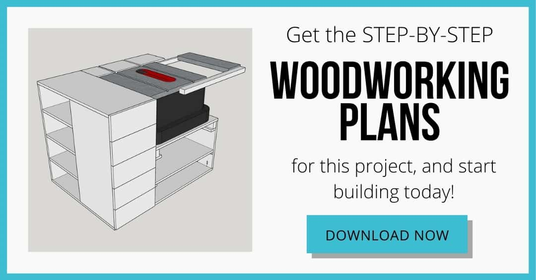 download button for DIY table saw stand plans