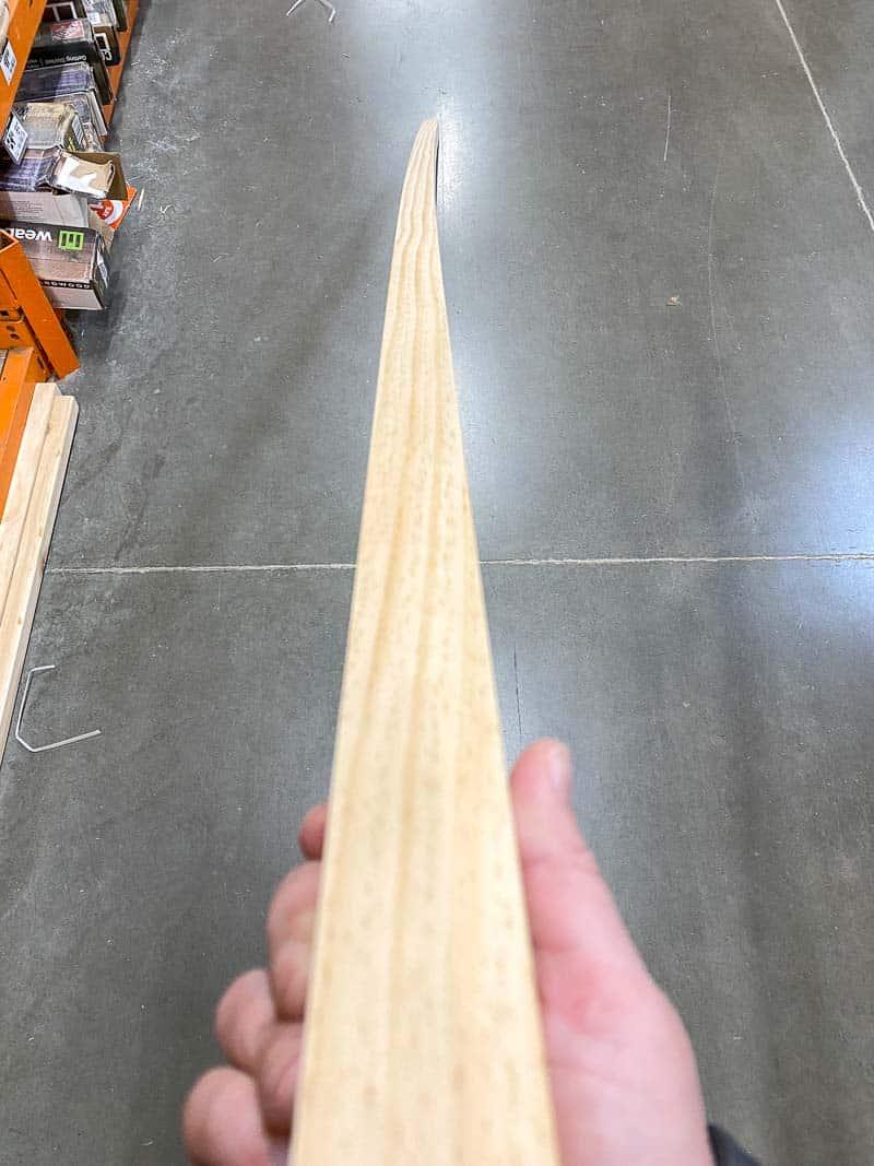 warped 2x4 lumber