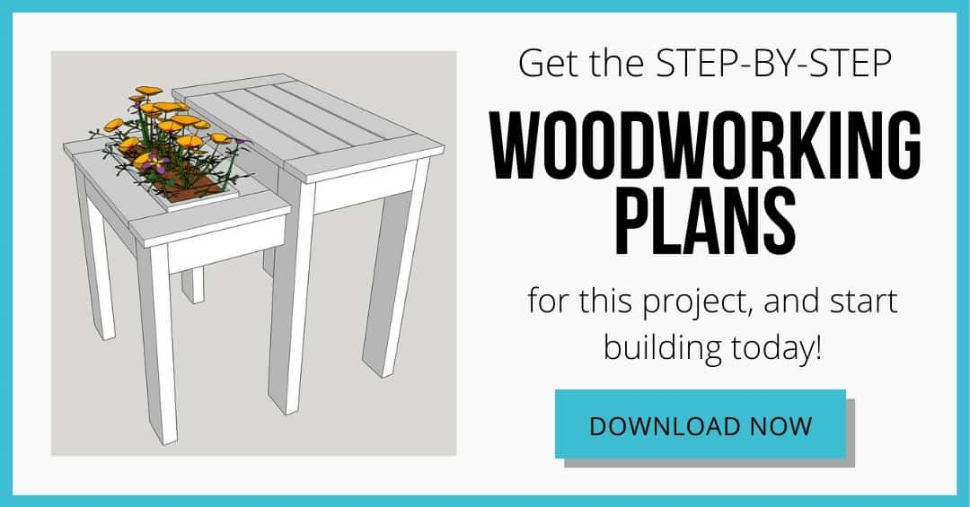 download box for woodworking plans for DIY outdoor end table