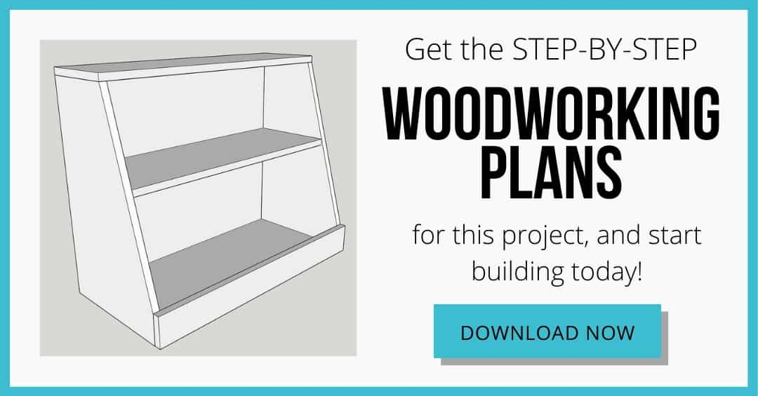 woodworking plans for kids bookshelf with toy storage