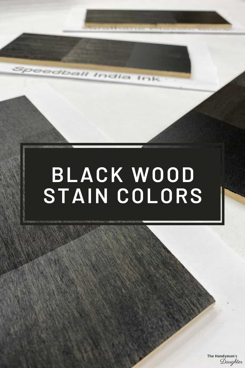 black wood stain colors