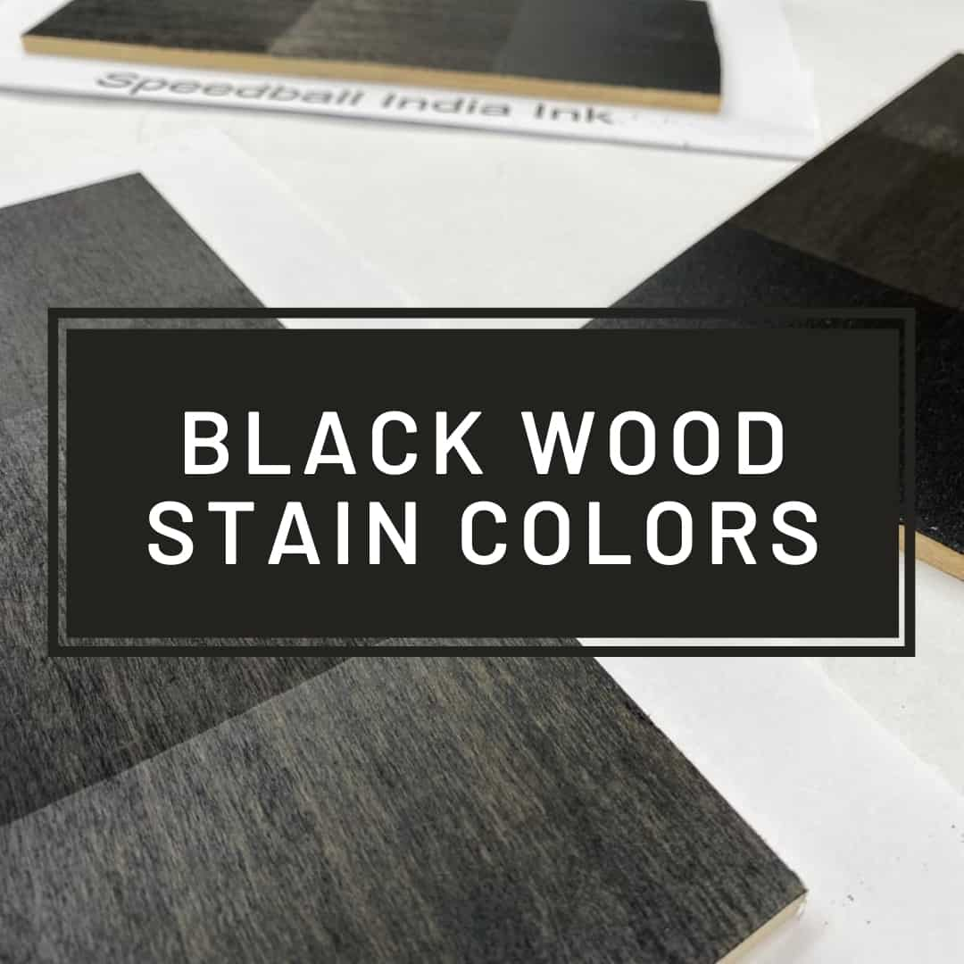 black wood stain colors with samples