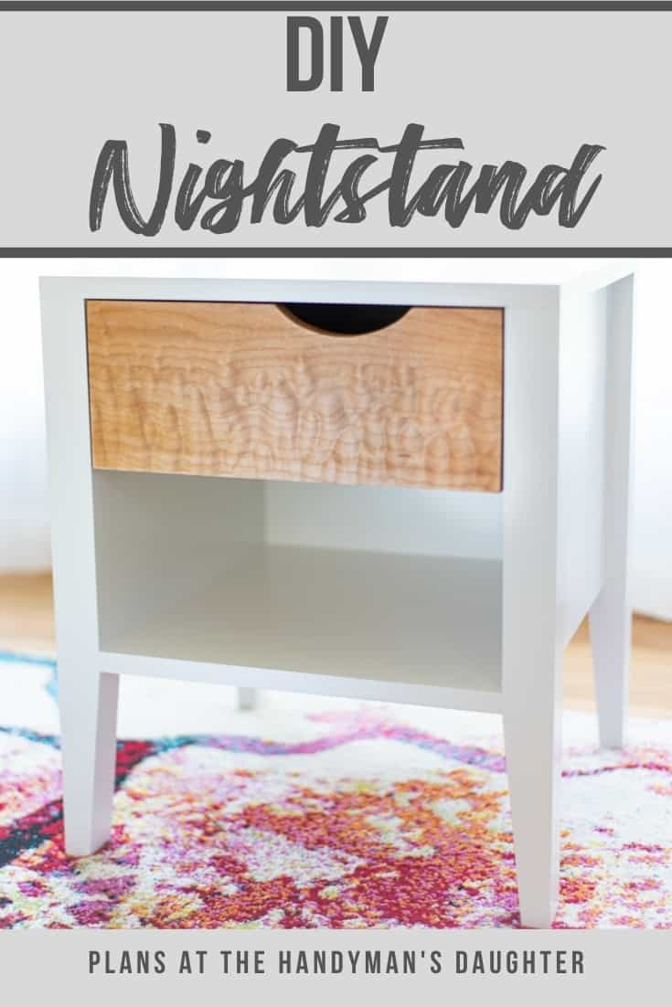 DIY nightstand - plans at The Handyman's Daughter