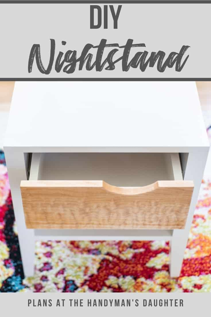 DIY nightstand with shelf and drawer