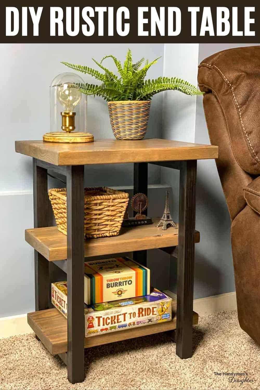DIY Rustic End Table