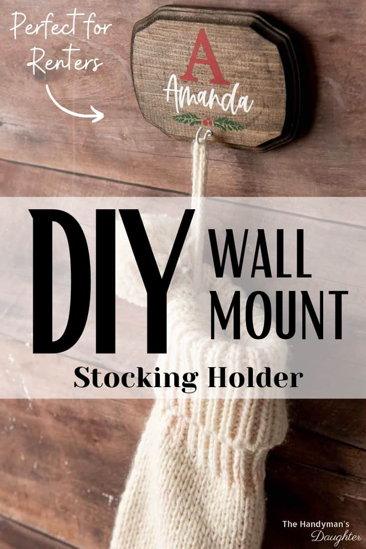DIY stocking hanger for the wall