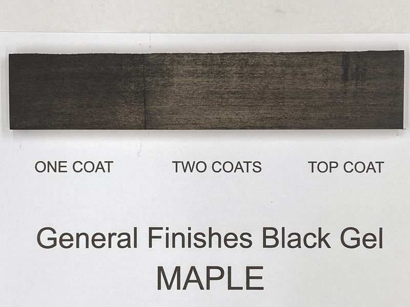 General Finishes black gel stain on maple