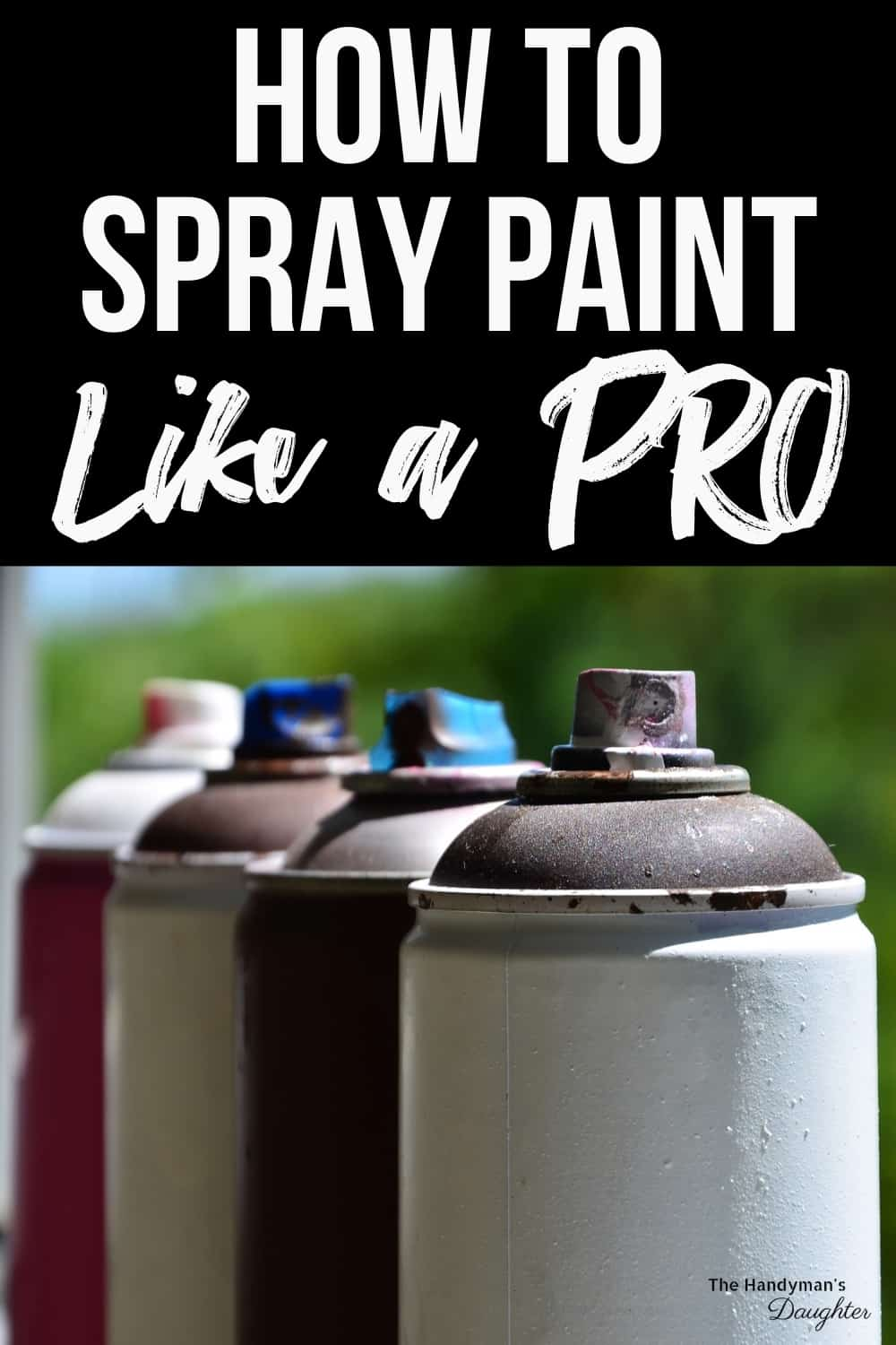 spray paint tips and tricks