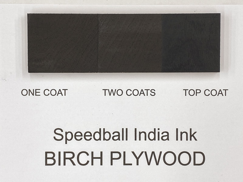 Speedball India Ink on birch plywood