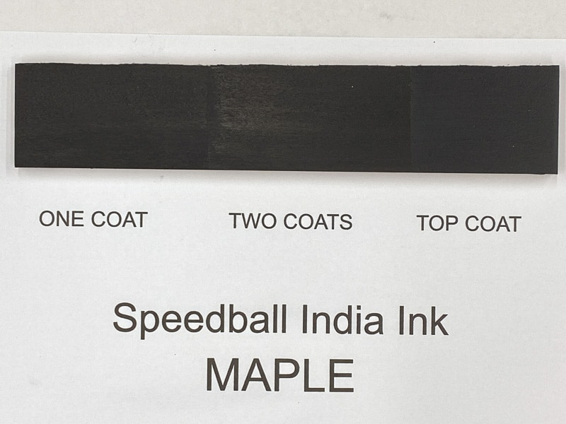 Speedball India Ink on maple