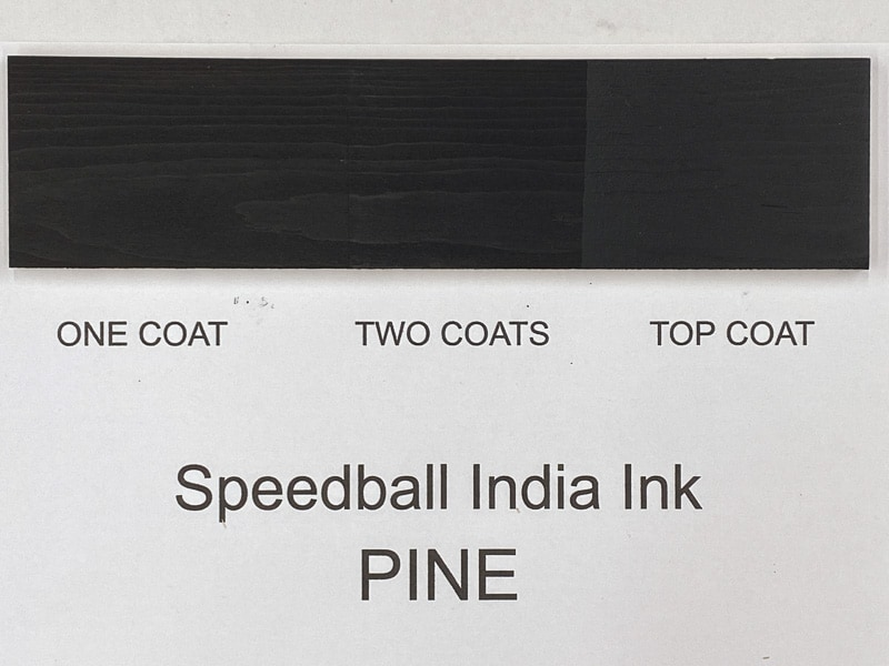 Speedball India Ink on pine
