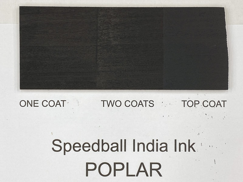 Speedball India Ink on poplar