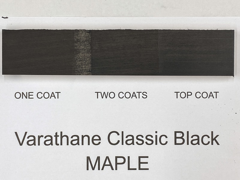 Varathane Classic Black wood stain on maple